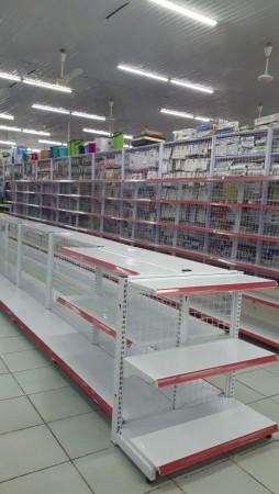 Giá kệ siêu thị dạng lưới đôi 0,9m x 1,2m loại 0.6